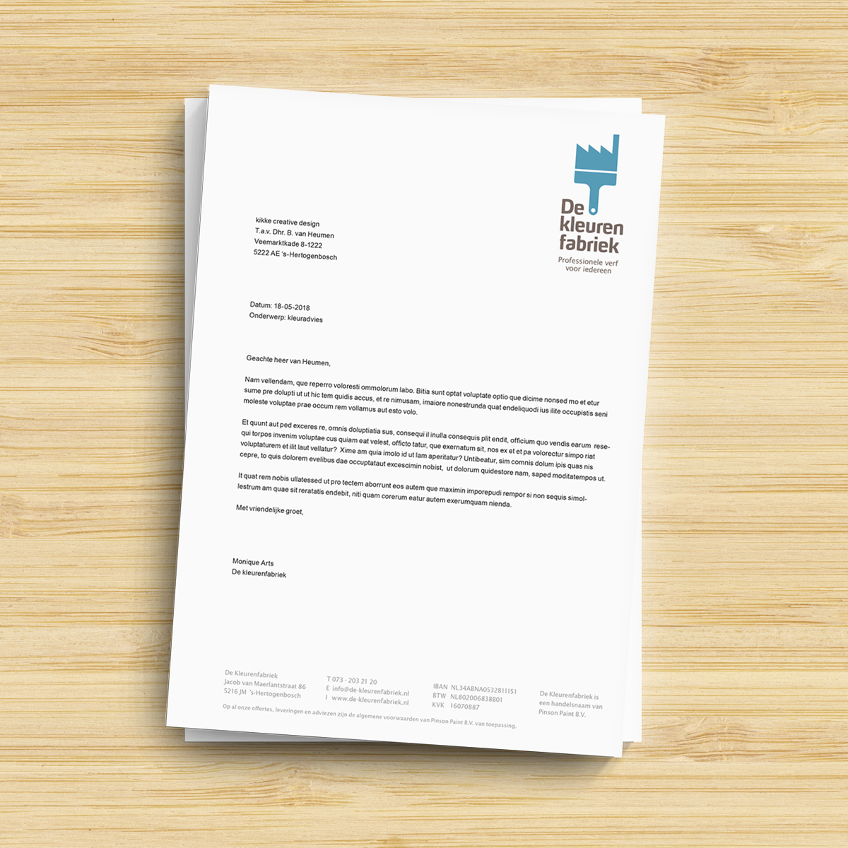 Briefpapier De Kleurenfabriek