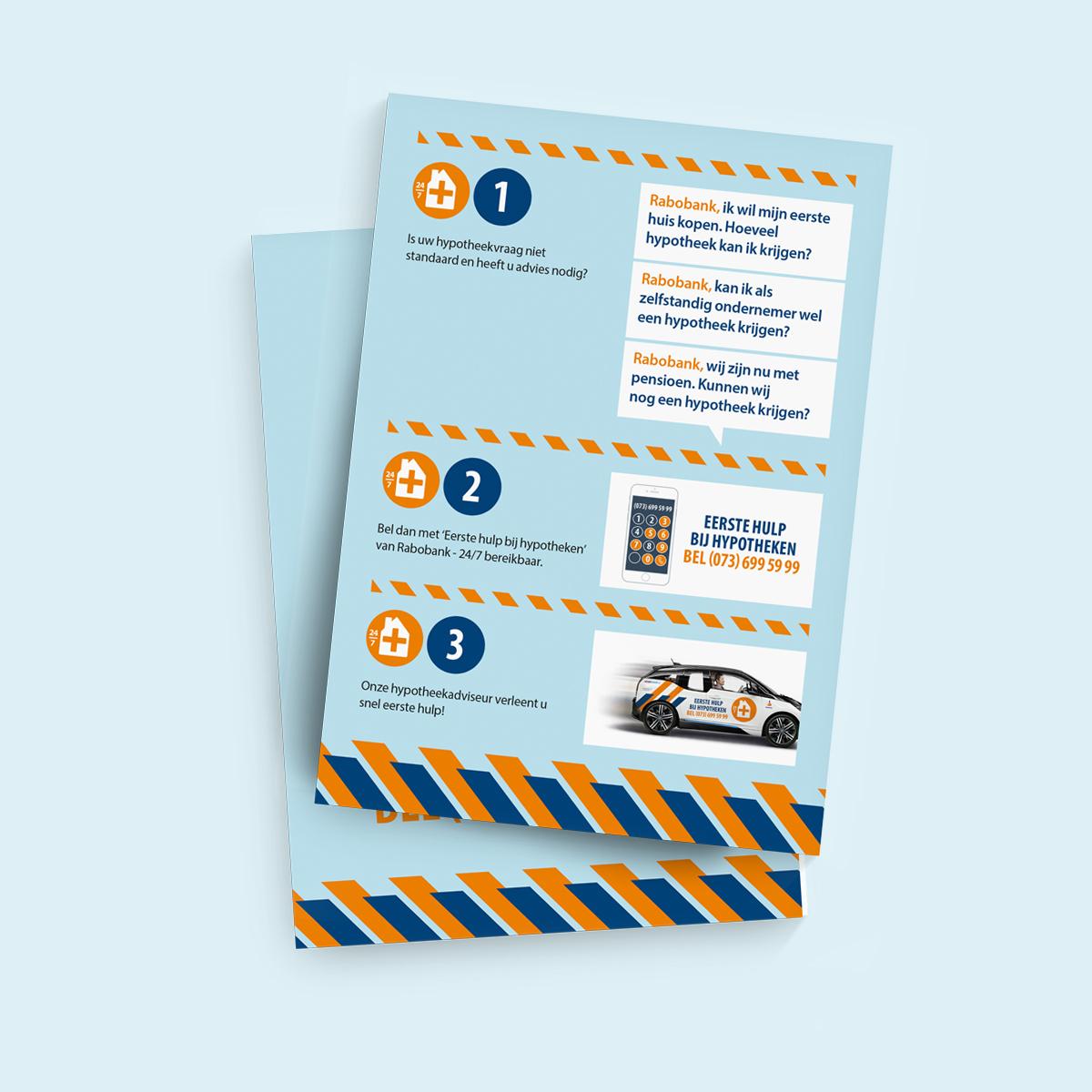 Flyer 'Eerste hulp bij hypotheken' Rabobank